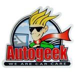 NEW Autogeek Embossed Metal Sign